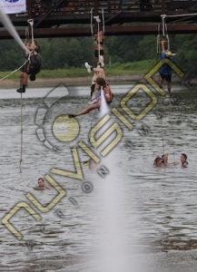 spartan water rope ladder